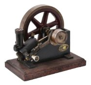 A model of an A E & H Robinson & Co of Manchester 'X' type Hot tube stationary engine