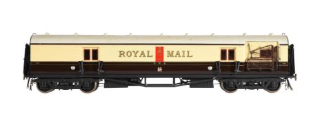 A gauge 1 Great Western Royal Mail TPO coach
