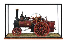 A well-engineered 1 ½ inch scale model of a 'Royal Chester' Allchin agricultural traction engine