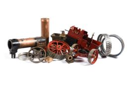 Two sets of castings to build two 1 1/2 inch scale Allchin Agricultural Traction engines