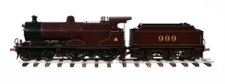 A fine exhibition quality and award winning 5 inch gauge model of a Midland 4-4-0 tender locomotive