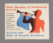 Poster Tom Ekersley State Opening of Parliament. The Baynard Press