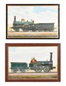 Edwin Thomas Rudd aka 'F Moore' (1861-1940), Locomotive 28 London and Birmingham