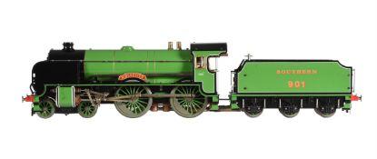 A gauge 1 Aster model of a 4-4-0 Southern Railway Schools class tender locomotive