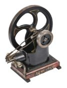 A well engineered model of an 'over-crank' horizontal stationary engine