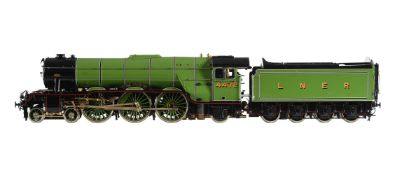 A gauge 1 Aster model of a 4-6-2 London North Eastern Railway A3 Class Pacific tender locomotive