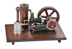 A well engineered model of Alyn Foundry Gardner model 0 horizontal stationary engine