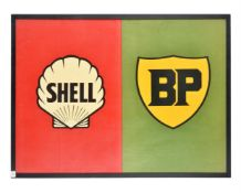 A vintage Shell/BP sponsored promotional poster