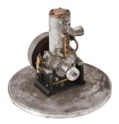A small well engineered model of a 'Hubbard' vertical single cylinder engine