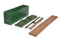 A collection of 5 inch gauge model railway track.