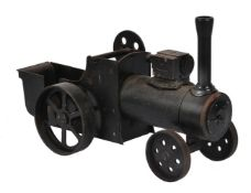 A cast-iron static model of a traction engine for display purpose