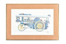 λ Geoffrey Wheeler (1929-1995), Charles Burrell and Sons Ltd Thetford traction engine