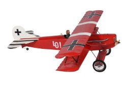 A model of a radio controlled German First World War Biplane