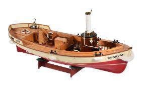 A model of a live steam boat 'Borkum Emden 1901'