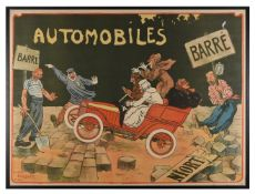 Walter Thor (German, 1870 - 1929) Automobiles Barre, Niort