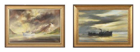 λ David Weston (British 1935-2011), Submarine refuelling