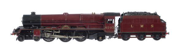 A fine gauge 1 model of a Princess Class tender locomotive