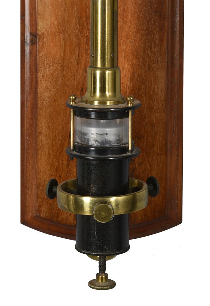 A LATE VICTORIAN LACQUERED BRASS FORTIN-TYPE LABORATORY MERCURY STICK BAROMETER - Image 3 of 3