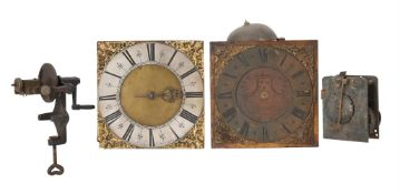 TWO THIRTY HOUR LONGCASE CLOCK MOVEMENTS WITH TEN-INCH DIALS