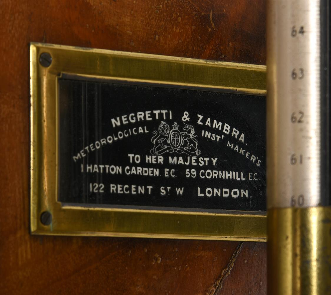 A LATE VICTORIAN LACQUERED BRASS FORTIN-TYPE LABORATORY MERCURY STICK BAROMETER - Image 2 of 3