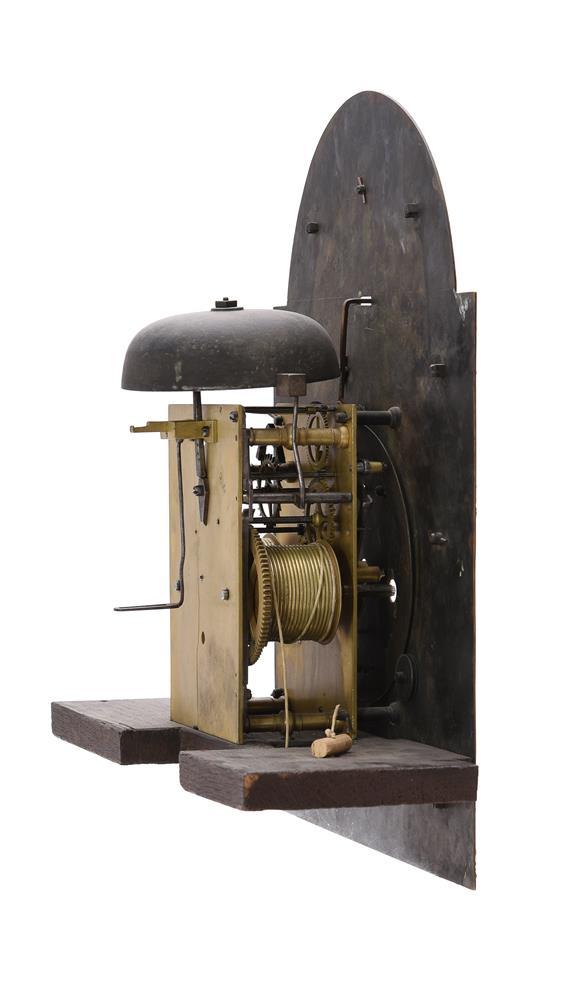 A GEORGE I FIGURED WALNUT EIGHT-DAY LONGCASE CLOCK - Image 4 of 5