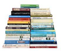 HOROLOGICAL REFERENCE WORKS ON CLOCKS, Twenty-four publications: