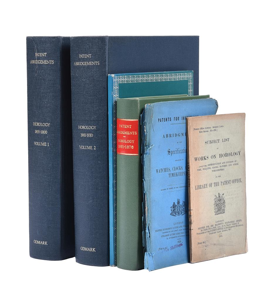 HOROLOGICAL PATENTS, Four Volumes: