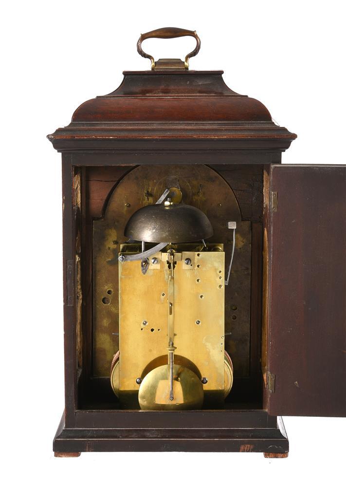 A RARE GEORGE II PROVINCIAL MAHOGANY TABLE CLOCK - Image 2 of 3