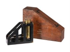 A JAPANNED AND LACQUERED BRASS INCLINOMETER
