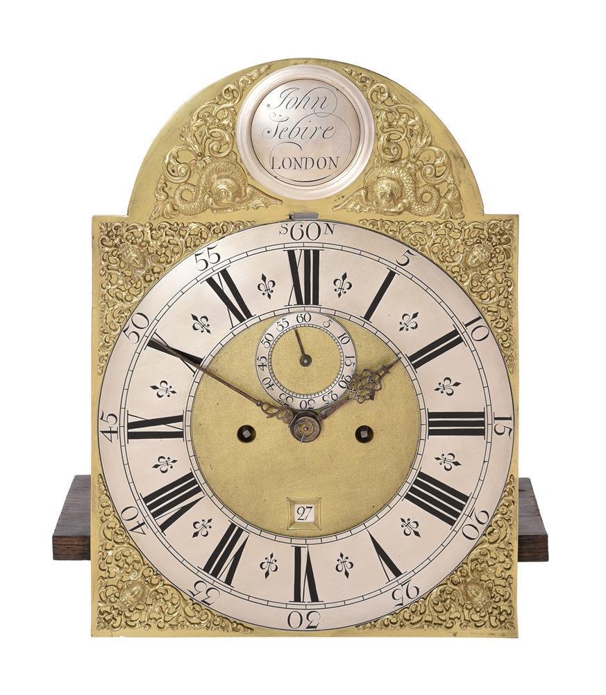 A GEORGE I FIGURED WALNUT EIGHT-DAY LONGCASE CLOCK - Image 3 of 5