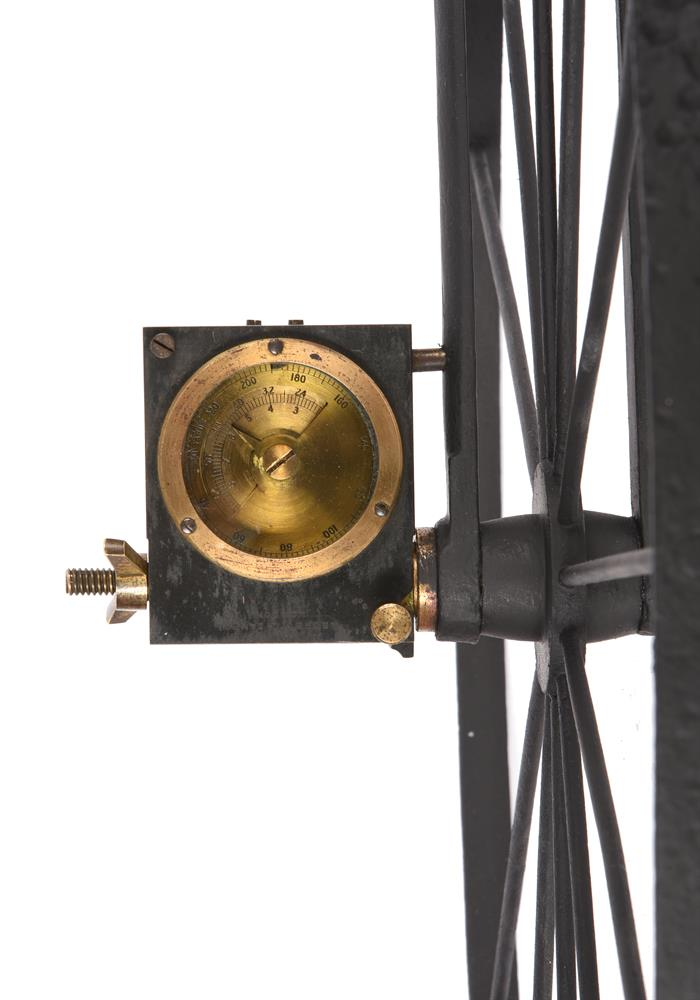 A RARE VICTORIAN WROUGHT IRON AND BRASS WAYWISER OR HODOMETER - Image 2 of 3