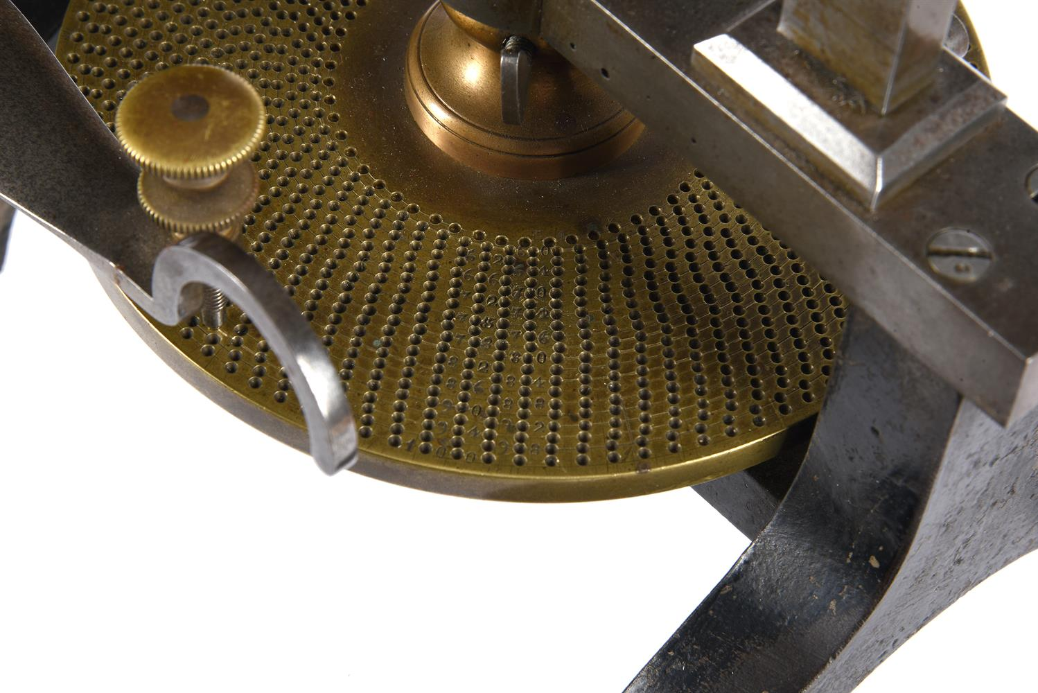 A RARE STEEL-FRAMED CLOCK OR WATCHMAKERS WHEEL CUTTING ENGINE - Image 3 of 3
