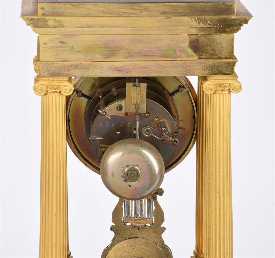 A FRENCH CHARLES X STYLE ORMOLU PORTICO MANTEL CLOCK - Image 2 of 2