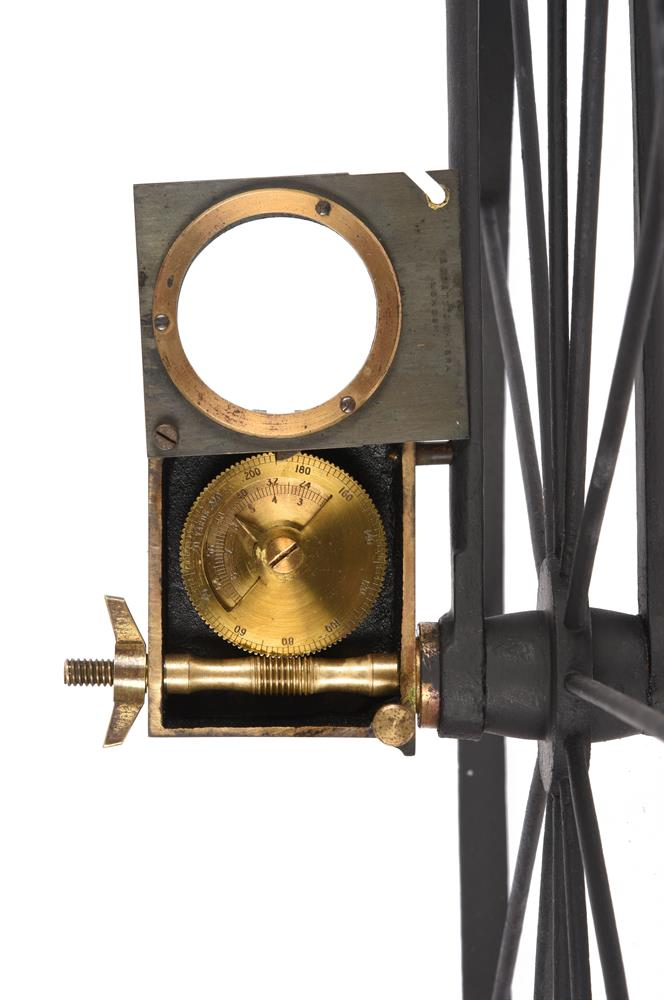 A RARE VICTORIAN WROUGHT IRON AND BRASS WAYWISER OR HODOMETER - Image 3 of 3