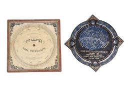 A PALMER'S COMPUTING SCALE AND FULLER'S TIME TELEGRAPH CIRCULAR SLIDE RULE