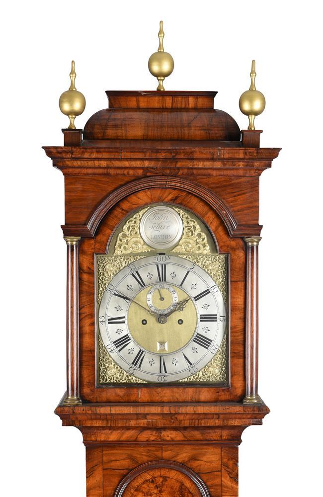 A GEORGE I FIGURED WALNUT EIGHT-DAY LONGCASE CLOCK - Image 2 of 5