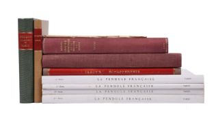 FRENCH HOROLOGICAL PUBLICATIONS BY TARDY, Nine volumes: