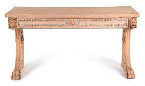 AN OAK CONSOLE TABLE, POSSIBLY IRISH CIRCA 1840