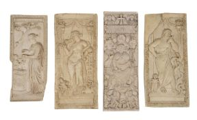 A GROUP OF CAST PLASTER RELIEFS, CIRCA 1860
