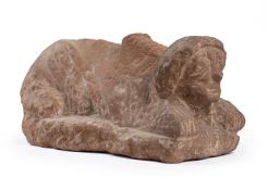 A PROVINCIAL ANCIENT ROMAN PERIOD TOMB GUARD IN THE FORM OF A SPHINX