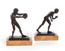 AFTER THE ANTIQUE, A PAIR OF ITALIAN BRONZE GRAND TOUR ATHLETES, SECOND HALF 19TH CENTURY