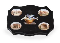 AN ITALIAN MICROMOSAIC PAPERWEIGHT, 19TH CENTURY