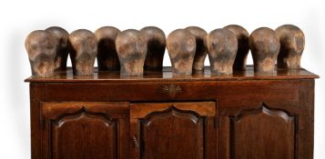 A GROUP OF TWELVE MILLINER'S HEADS, LATE 18TH/EARLY 19TH CENTURY