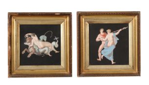ATTRIBUTED TO THE WORKSHOP OF MICHELANGELO MAESTRI (ITALIAN D. 1812), A PAIR OF GRAND TOUR GOUACHES