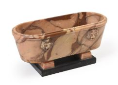 AN ITALIAN MODEL OF A ROMAN BATH IN GIALLO ANTICO, 19TH CENTURY