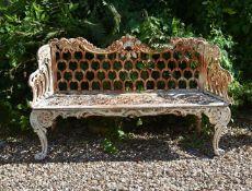 A RARE CARRON FOUNDRY CAST IRON SEAT, LATE 19TH CENTURY