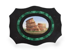 AN ITALIAN MICROMOSAIC DEPICTING THE COLOSSEUM, 19TH CENTURY