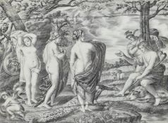 Y AFTER PETER PAUL RUBENS (1577-1640), A CONTINENTAL PENWORK IVORY PLAQUE