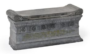 AN ITALIAN BARDIGLIO MARBLE MODEL OF THE TOMB OF SCIPIO, 19TH CENTURY