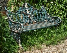 A CAST IRON BENCH, IN THE COALBROOKDALE 'GOTHIC' PATTERN, , LATE 19TH CENTURY